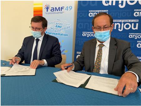 Signature d'une convention de partenariat entre le Département et l'AMF 49